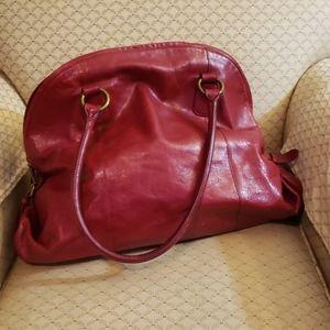 Hobo International Red Leather Shoulder Bag